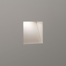 White 1W LED Recessed Wall Light