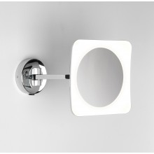 Polished Chrome Squre LED Illuminated Bathroom Mirror