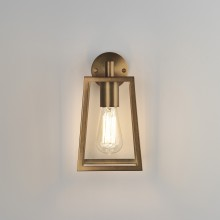 Antique Brass IP23 Outdoor Wall Light