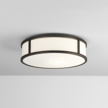 Bronze 300mm Round Bathroom Flush Light