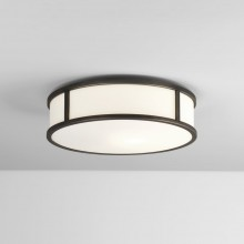 Bronze 300mm Round LED Bathroom Flush Light