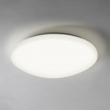 300mm Diameter Matt White LED IP44 Flush Light