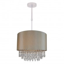 Large 350mm Soft Gold Ceiling Adjustable Flush Shade with Matching Inner and Clear Droplets