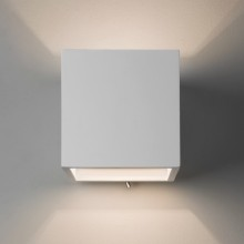 White Plaster 60W E14 Up & Down Wall Light