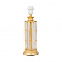 Gold Metal with Clear Column Table Lamp Base