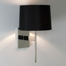 Chrome With Black Fabric Shade 60W G9 Wall Light