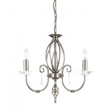 Nickel With Crystal Detailing 60W E14 3 Light Pendant
