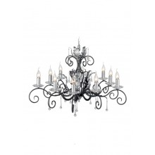 Black And Silver 60W E14 900mm Diameter 10 light Pendant