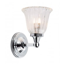 Chrome With Frosted Glass 40W G9 IP44 Bathroom Wall light