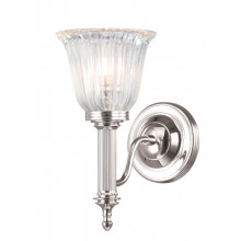 Nickel With Frosted Glass 40W G9 IP44 Bathroom Wall light