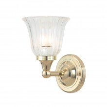 Polished Brass 40W G9 IP44 Bathroom Wall Light