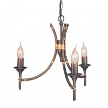 Bronze Patina 60W E14 3 Light Pendant