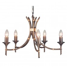 Bronze Patina 60W E14 5 Light Pendant