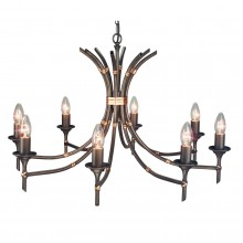 Bronze Patina 60W E14 8 Light Pendant