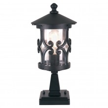 Black 100W E27 Garden Post Light