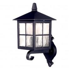Black 100W E27 IP44 Garden Wall Light