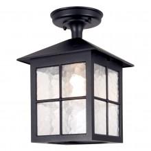 Black 100W E27 IP43 Garden Lantern