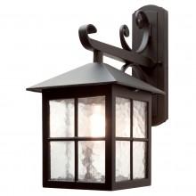 Black 100W E27 IP43 Garden Wall Light