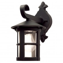 Black 100W E27 IP43 Garden Wall Light