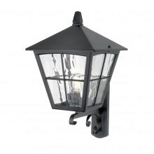 Black 150W E27 IP43 Garden Wall Light