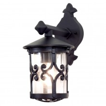 Black 100W E27 Garden Wall Light