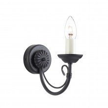 Black 60W E14 Wall Light