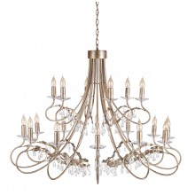 Silver/Gold 60W E14 18 Light Pendant