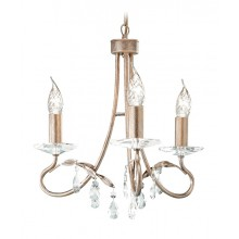 Silver/Gold With Crystal Detailing 60W E14 3 Light Pendant