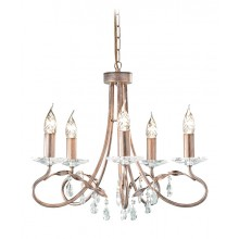 Silver/Gold With Crystal Detailing 60W E14 5 Light Pendant
