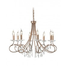 Silver/Gold With Crystal Detailing 60W E14 8 Light Pendant