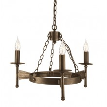 Old Bronze 60W E14 3 Light Pendant