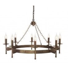 Old Bronze 60W E14 8 Light Pendant