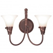 Copper Patina 60W E14 Twin Wall Light