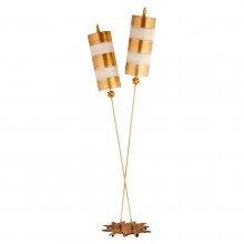 gold and taupe 60W E27 Floor Lamp