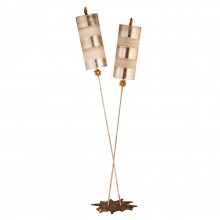 beige and silver 60W E27 Floor Lamp