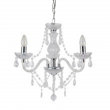 Clear and Chrome Marie Therese Style 3 x 40W Chandelier