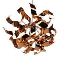 Easy Fit Copper and Chrome Finish Ribbon Swirl Ceiling Shade
