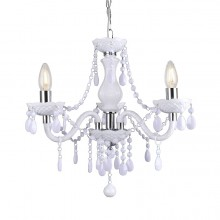 White and Chrome Marie Therese Style 3 x 40W Chandelier