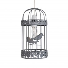 Grey Birdcage Easy Fit Light Shade