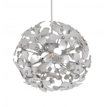 Polished Chrome Flower Ball Easy Fit Pendant