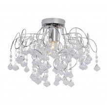 Chrome and Jewelled Droplets E27 Semi Flush Fitting