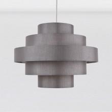 Silver Grey Faux Silk 5 Tier Light Shade