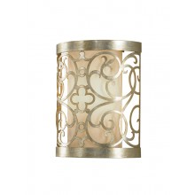 Silver Leaf Patina 60W E14 Wall Light