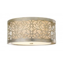 Silver Leaf Patina 60W E27 375mm Diameter Flush Light