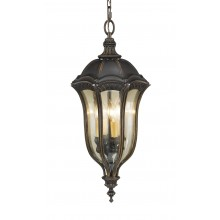 Walnut E14 60W Dimmable IP23 Hanging Lantern