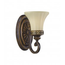 Walnut E27 60W Dimmable Wall light