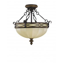 Walnut E27 100W Dimmable 395mm Diameter Pendant
