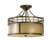 Astral Bronze E27 100W Dimmable 430mm Diameter Semi-Flush