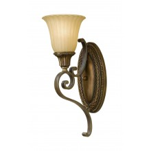 Firenze Gold/British Bronze E27 100W Dimmable Wall Light