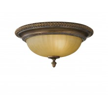 Firenze Gold/British Bronze E27 60W Dimmable 340mm Diameter Flush